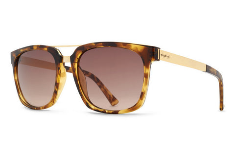 VonZipper - Plimton Tortoise Gold TGO Sunglasses, Bronze Gradient Lenses