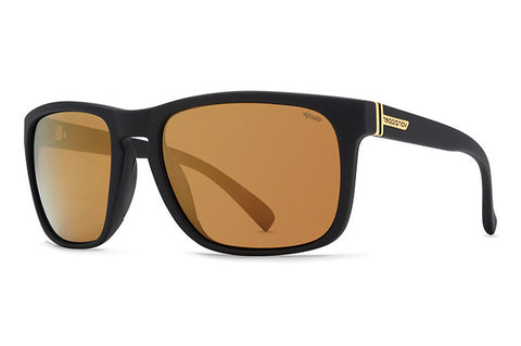VonZipper - Lomax Black Satin PDC Sunglasses, Wildlife Gold  Lenses