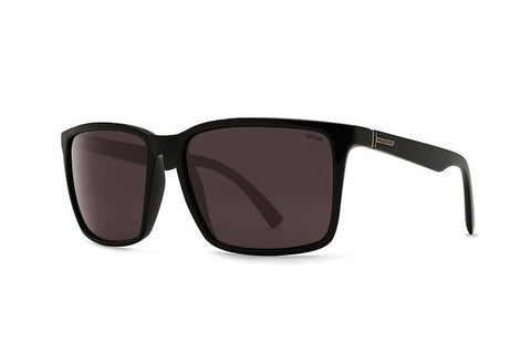 VonZipper - Lesmore Black Satin PWR Sunglasses, Wildlife Rose Polarized Lenses
