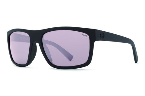 VonZipper - Speedtuck Black Satin PSV Sunglasses, Wildlife Vintage Grey Polarized Lenses