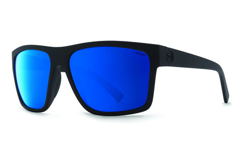 VonZipper Dipstick Black Satin PLC Sunglasses, Wildlife Blue Polarized Lenses