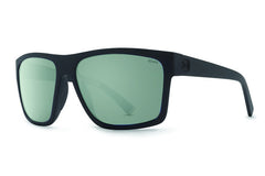 VonZipper - Dipstick Black Satin PVC Sunglasses, Wildlife Grey Polarized Lenses