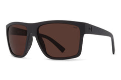 VonZipper - Dipstick Black Satin PWR Sunglasses, Wildlife Rose Polarized Lenses