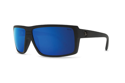 VonZipper - Snark Black Satin PLC Sunglasses, Wildlife Blue Lenses