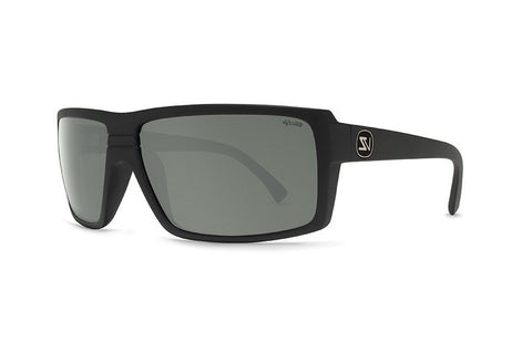 VonZipper - Snark Black Satin PVC Sunglasses, Wildlife Grey Lenses