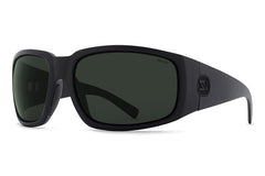VonZipper - Palooka Black Satin PSV Sunglasses, Wildlife Vintage Grey Polarized Lenses