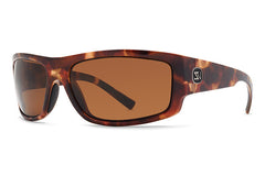 VonZipper - Semi Black Satin PRC Sunglasses, Wildlife Rose Polarized Lenses