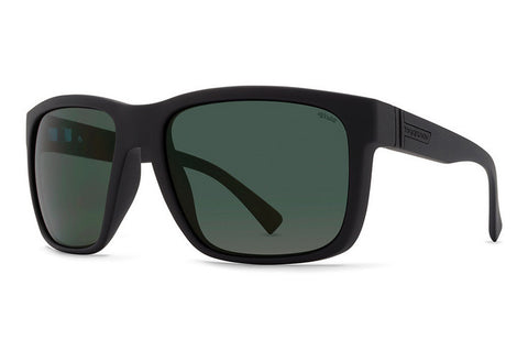 VonZipper - Maxis Black Smoke Satin Sunglasses, Wildlife Vintage Polarized Lenses