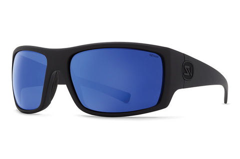 VonZipper - Suplex Black Satin PLC Sunglasses, Wildlife Blue Flash Polarized Lenses