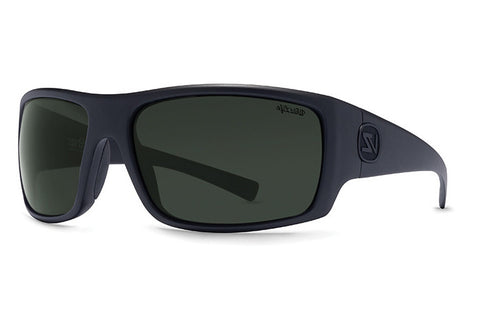 VonZipper - Suplex Black Smoke Satin PSV Sunglasses, Wildlife Vintage Polarized Lenses