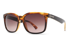 VonZipper - Howl Reverse Black Tortoise Sunglasses, Brown Gradient Lenses