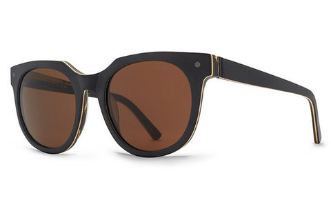 VonZipper - Wooster Blackwood Satin BWB Sunglasses, Bronze Lenses