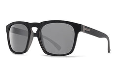 VonZipper - Banner Black BKN Sunglasses, Silver Lenses