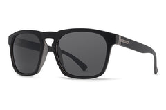 VonZipper - Banner Black Satin BKS Sunglasses, Grey Lenses