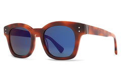 VonZipper - Belafonte Havana Tortoise VTB Sunglasses, Vintage Gray Blue Flash Lenses