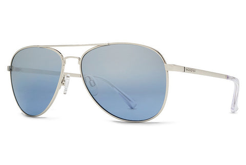VonZipper - Farva Silver SNH Sunglasses, Navy Chrome Lenses