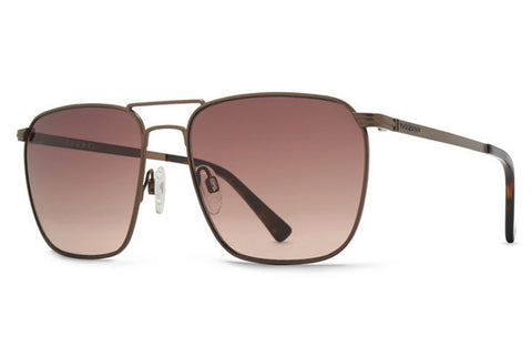 VonZipper - League Antique Brown ABD Sunglasses, Brown Gray Lenses