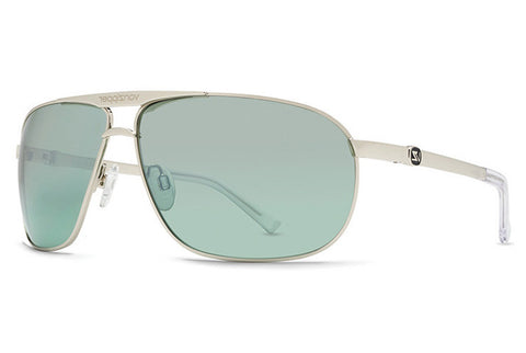 VonZipper - Skitch Silver SEH Sunglasses, Green Chrome Lenses