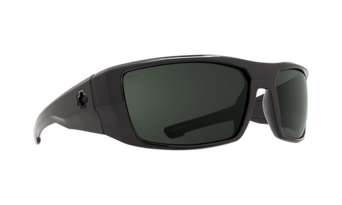 Spy - Dirk 64mm SOSI ANSI RX Black Sunglasses / HD Plus Gray Green Lenses
