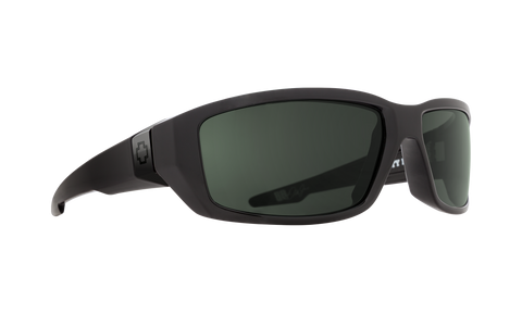 Spy - Dirty Mo 61mm SOSI Black Sunglasses / HD Plus Gray Green Polarized Lenses