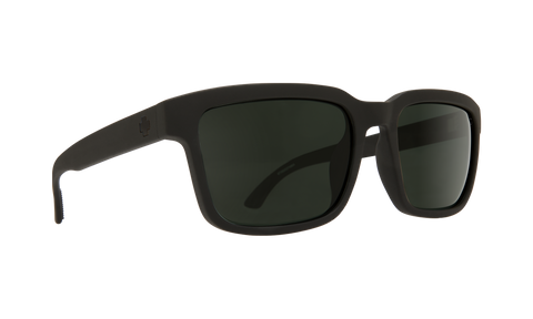 Spy - Helm 2 57mm SOSI Matte Black Sunglasses / HD Plus Gray Green Polarized Lenses