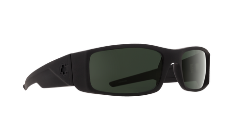Spy - Hielo 56mm SOSI Matte Black Sunglasses / HD Plus Gray Green Polarized Lenses