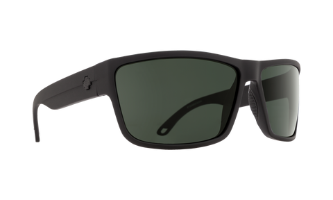 Spy - Rocky 64mm SOSI Matte Black Sunglasses / HD Plus Gray Green Lenses