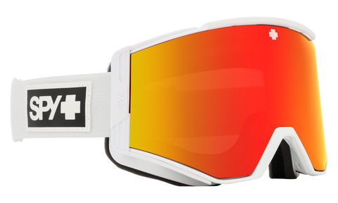 Spy - Ace Matte White Snow Goggles / HD Plus Bronze Red Spectra Mirror + HD Plus LL Yellow Green Spectra Mirror Lenses