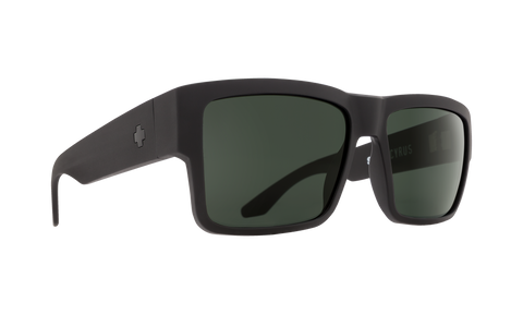 Spy - Cyrus Matte Black Sunglasses / HD Plus Gray Green Lenses