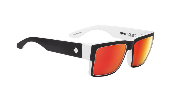 Spy - Cyrus Whitewall Sunglasses / HD Plus Gray Green Red Spectra Mirror Lenses