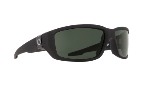 Spy - Dirty Mo Matte Black Sunglasses / HD Plus Gray Green Lenses