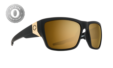 Spy - Dirty Mo 2 25th Anniversary Matte Black Gold Sunglasses / HD Plus Bronze Gold Spectra Mirror Lenses