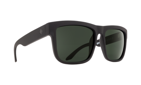 Spy - Discord Soft Matte Black Sunglasses / HD Plus Gray Green Polarized Lenses