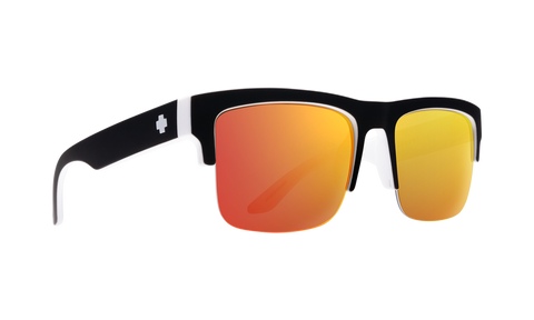 Spy - Discord 5050 Whitewall Sunglasses / HD Plus Gray Green Red Spectra Mirror Lenses