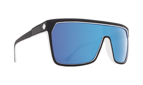 Spy - Flynn Whitewall Sunglasses / HD Plus Gray Green with Light Blue Spectra Mirror Lenses