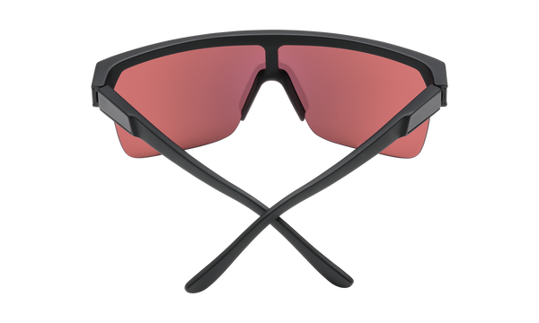 Spy - Flynn 5050 Matte Black Sunglasses / HD Plus Rose Silver Spectra Mirror Lenses