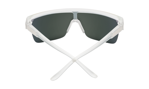 Spy - Flynn 5050 Matte Crystal Sunglasses / HD Plus Gray Green Red Spectra Mirror Lenses