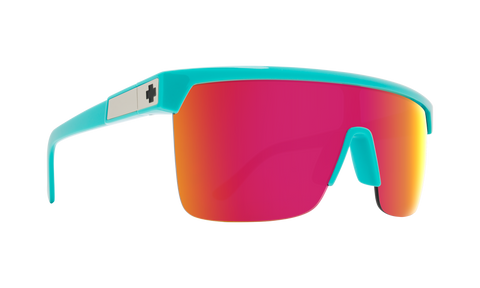Spy - Flynn 5050 Teal Sunglasses / HD Plus Gray Green Pink Spectra Mirror Lenses