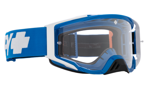 Spy - Foundation Checkers Blue MX Goggles / HD Clear Lenses