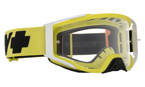 Spy - Foundation Checkers Hi-Visual Green MX Goggles / HD Clear Lenses