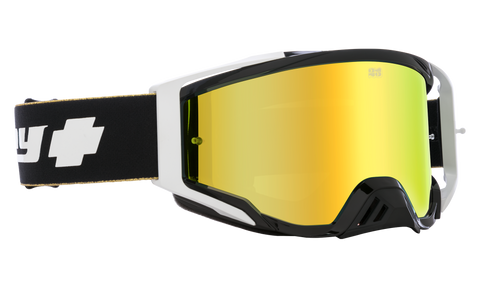 Spy - Foundation Plus 25th Anniversary Black Gold MX Goggles / HD Bronze Gold Spectra Mirror HD Clear Lenses