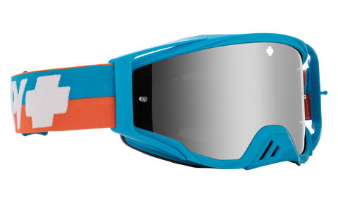 Spy - Foundation Plus Bolt Blue MX Goggles / HD Smoke Silver Spectra Mirror + HD Clear Lenses