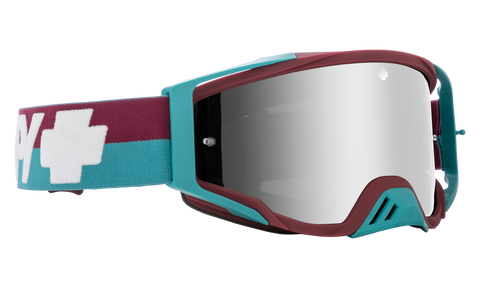 Spy - Foundation Plus Bolt Teal MX Goggles / HD Smoke Silver Spectra Mirror + HD Clear Lenses