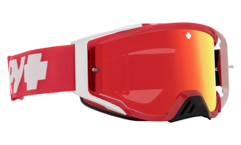 Spy - Foundation Plus Checkers Red MX Goggles / HD Smoke Red Spectra Mirror + HD Clear Lenses