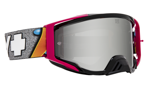 Spy - Foundation Plus Jeremy McGrath + KAB MX Goggles / HD Smoke Silver Spectra Mirror + HD Clear Lenses