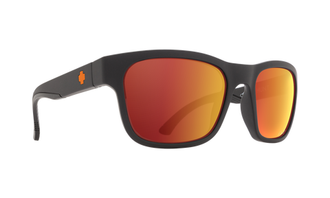 Spy - Hunt 55mm Dale Jr Matte Black Sunglasses / HD Plus Gray Green Orange Spectra Mirror Lenses