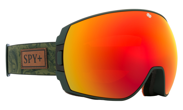 Spy - Legacy Gone Fishing Gray Snow Goggles / HD Plus Bronze Red Spectra Mirror + HD Plus LL Yellow Green Sprectra Mirror Lenses
