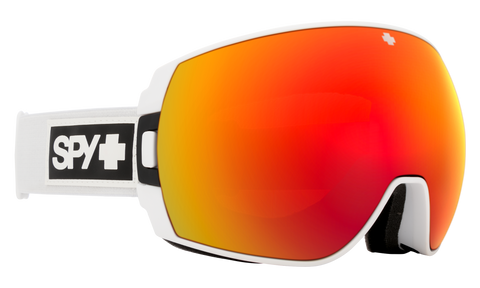 Spy - Legacy Matte White Snow Goggles / HD Plus Bronze Red Spectra Mirror + HD Plus LL Yellow Green Spectra Mirror Lenses