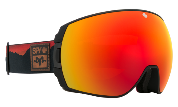 Spy - Legacy SPY + Wiley Miller Black Snow Goggles / HD Plus Rose Dark Blue Spectra Mirror + HD Plus LL Light Gray Green Red Spectra Mirror Lenses