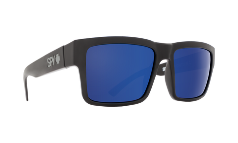 Spy - Montana Black Eyeglasses / HD Plus Gray Green Dark Blue Spectra Mirror Polarized Lenses
